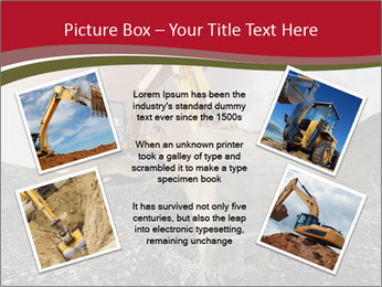 Excavator on a quarry tip PowerPoint Templates - Slide 24