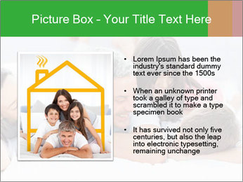 Cute family lying on bed PowerPoint Template - Slide 13