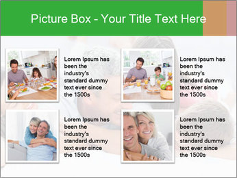 Cute family lying on bed PowerPoint Template - Slide 14