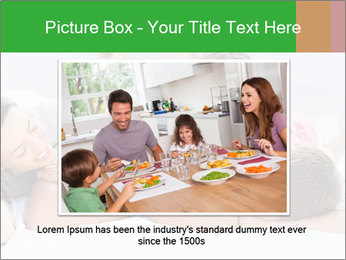 Cute family lying on bed PowerPoint Template - Slide 15