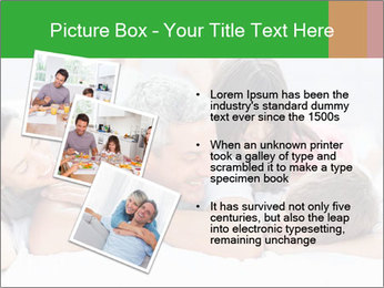 Cute family lying on bed PowerPoint Template - Slide 17