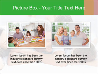 Cute family lying on bed PowerPoint Template - Slide 18