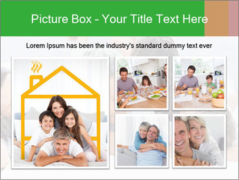 Cute family lying on bed PowerPoint Template - Slide 19