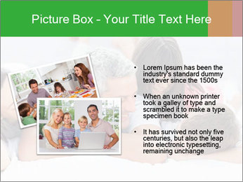 Cute family lying on bed PowerPoint Template - Slide 20