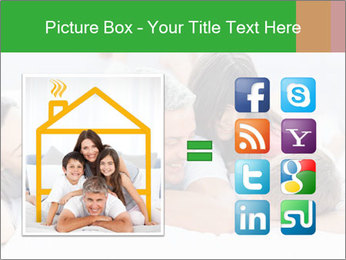 Cute family lying on bed PowerPoint Template - Slide 21