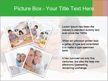 Cute family lying on bed PowerPoint Template - Slide 23