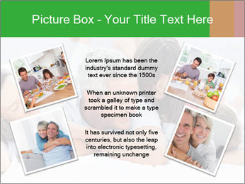 Cute family lying on bed PowerPoint Template - Slide 24