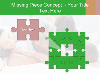Cute family lying on bed PowerPoint Template - Slide 45