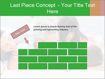 Cute family lying on bed PowerPoint Template - Slide 46
