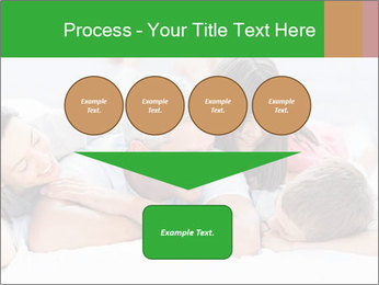 Cute family lying on bed PowerPoint Template - Slide 93