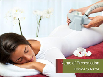 Therapist applying lipo massage PowerPoint Template