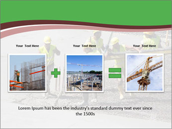 Workers pouring concrete PowerPoint Templates - Slide 22