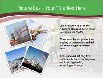 Workers pouring concrete PowerPoint Templates - Slide 23