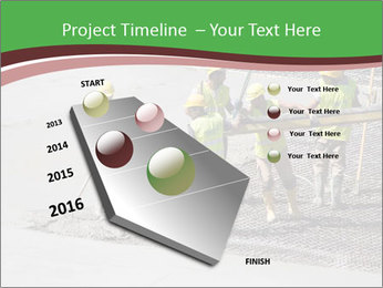 Workers pouring concrete PowerPoint Templates - Slide 26