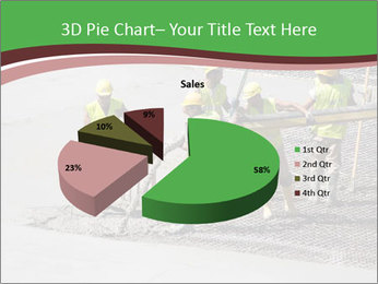 Workers pouring concrete PowerPoint Templates - Slide 35