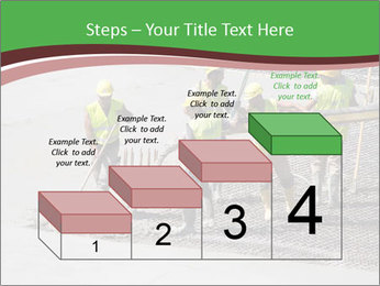 Workers pouring concrete PowerPoint Templates - Slide 64