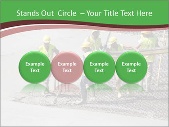 Workers pouring concrete PowerPoint Templates - Slide 76