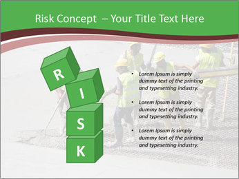 Workers pouring concrete PowerPoint Templates - Slide 81