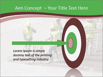 Workers pouring concrete PowerPoint Templates - Slide 83