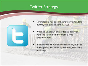 Workers pouring concrete PowerPoint Templates - Slide 9