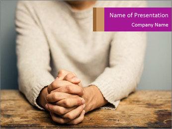 Praying man PowerPoint Template - Slide 1