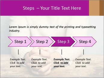 Praying man PowerPoint Template - Slide 4