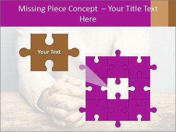 Praying man PowerPoint Template - Slide 45
