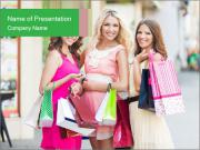 Three beautiful girlfriends PowerPoint Template