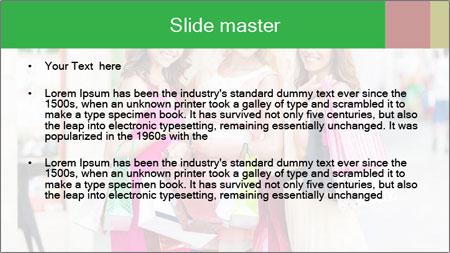 Three beautiful girlfriends PowerPoint Template - Slide 2