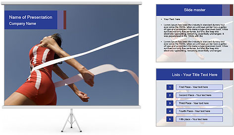 Low angle view PowerPoint Template