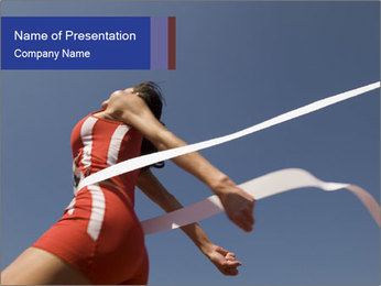 Low angle view PowerPoint Template - Slide 1
