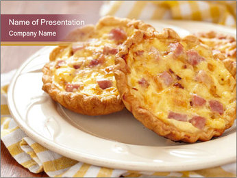 Quiches lorraines PowerPoint Template