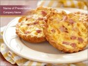 Quiches lorraines PowerPoint Templates