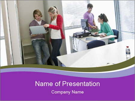 University students PowerPoint Templates