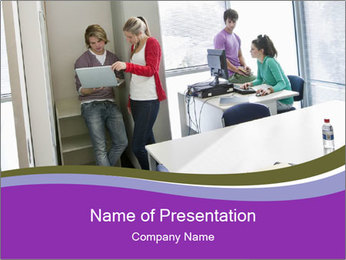 University students PowerPoint Template