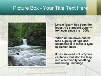 Turquois River into the Woods PowerPoint Template - Slide 13