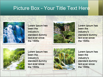 Turquois River into the Woods PowerPoint Template - Slide 14