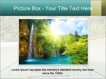 Turquois River into the Woods PowerPoint Template - Slide 15