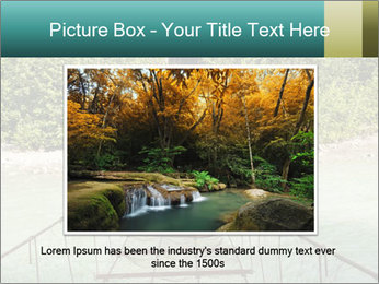 Turquois River into the Woods PowerPoint Template - Slide 16