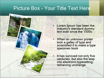 Turquois River into the Woods PowerPoint Template - Slide 17