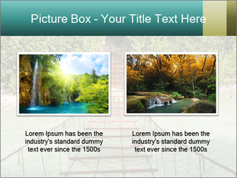 Turquois River into the Woods PowerPoint Template - Slide 18