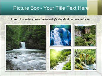 Turquois River into the Woods PowerPoint Template - Slide 19
