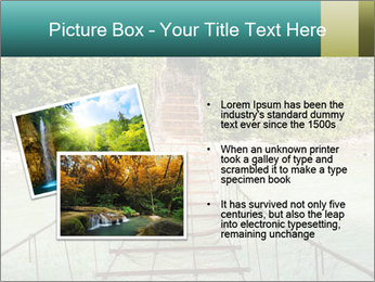 Turquois River into the Woods PowerPoint Template - Slide 20