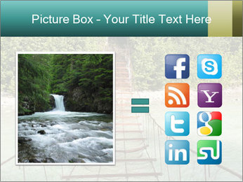 Turquois River into the Woods PowerPoint Template - Slide 21