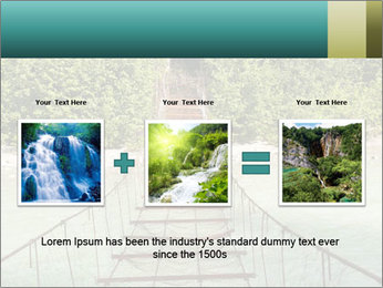 Turquois River into the Woods PowerPoint Template - Slide 22