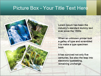 Turquois River into the Woods PowerPoint Template - Slide 23