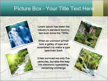 Turquois River into the Woods PowerPoint Template - Slide 24