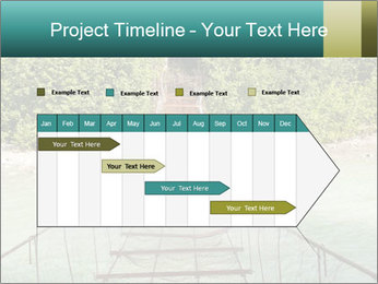 Turquois River into the Woods PowerPoint Template - Slide 25