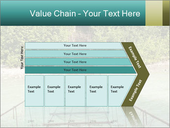 Turquois River into the Woods PowerPoint Template - Slide 27