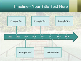 Turquois River into the Woods PowerPoint Template - Slide 28